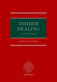 Book Insider Dealing: Law and Practice by Sarah Clarke