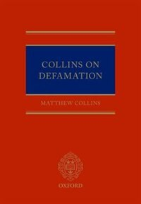 Book Collins On Defamation by Matthew Collins