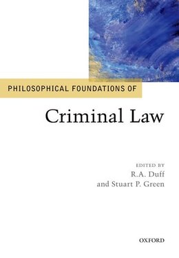 Book Philosophical Foundations of Criminal Law by R.A. Duff