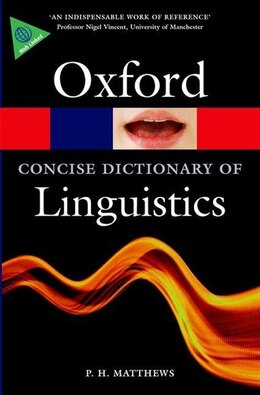 Book The Concise Oxford Dictionary of Linguistics by P. H. Matthews