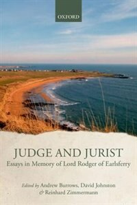 Book Judge and Jurist: Essays in Memory of Lord Rodger by Andrew Burrows