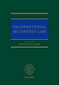 Book Transnational Securities Law by Thomas Keijser