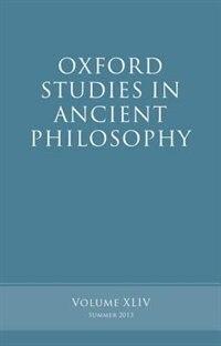 Book Oxford Studies in Ancient Philosophy, Volume 44 by Brad Inwood