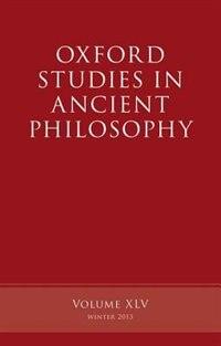 Book Oxford Studies in Ancient Philosophy, Volume 45 by Brad Inwood