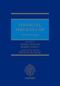 Book Financial Services Law by George Walker