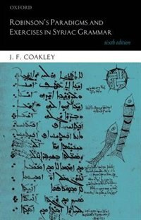Book Robinsons Paradigms and Exercises in Syriac Grammar by J. F. Coakley