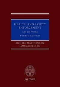 Book Health and Safety Enforcement: Law and Practice by Richard Matthews