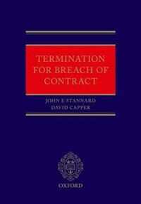 Book Termination for Breach of Contract by John Stannard