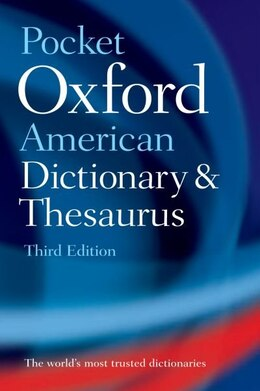 Book Pocket Oxford American Dictionary and Thesaurus by Oxford