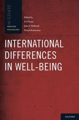 Book International Differences in Well-Being by Ed Diener