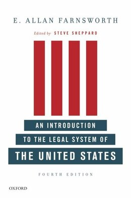 Book An Introduction to the Legal System of the United States by E. Allan Farnsworth