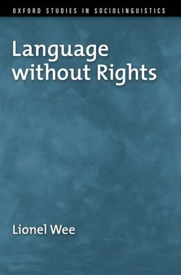 Book Language without Rights by Lionel Wee