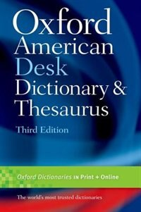 Book Oxford American Desk Dictionary and Thesaurus by Oxford