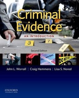 Book Criminal Evidence: An Introduction by John L. Worrall