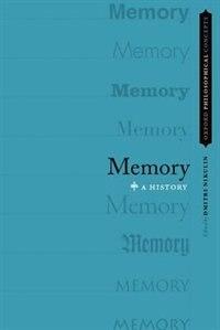 Book Memory: A History by Dmitri Nikulin