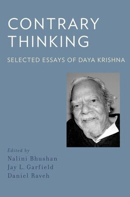 Book Contrary Thinking: Selected Essays of Daya Krishna by Daya Krishna