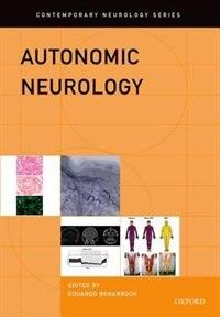 Book Autonomic Neurology by Eduardo Benarroch