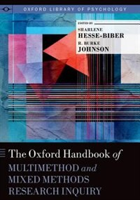 Book The Oxford Handbook of Multimethod and Mixed Methods Research Inquiry by Sharlene Nagy Hesse-biber