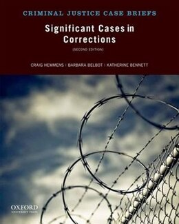 Book Significant Cases in Corrections by Craig Hemmens