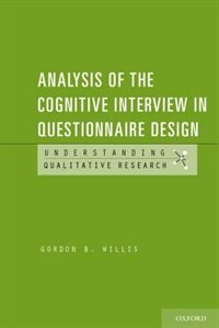 Book Analysis of the Cognitive Interview in Questionnaire Design by Gordon Willis