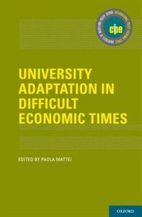 Book University Adaptation in Difficult Economic Times by Paola Mattei