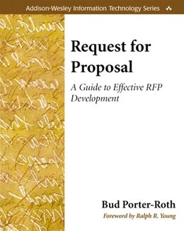 Book Request for Proposal: A Guide to Effective RFP Development by Bud Porter-roth