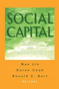 Book Social Capital: Theory and Research by Ronald S. Burt