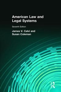Book American Law and Legal Systems by James V Calvi