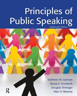 Book Principles of Public Speaking by Kathleen M. German