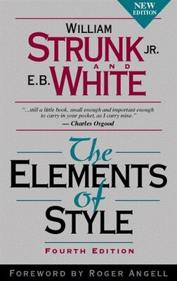 Book The Elements of Style by William Strunk