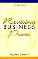 Book Revising Business Prose by Richard Lanham