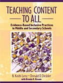 Book Teaching Content to All: Evidence-based Inclusive Practices In Middle And Secondary Schools by B. Keith Lenz
