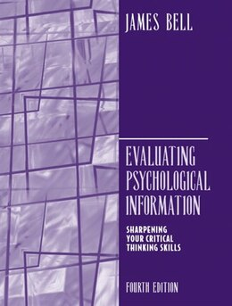 Book Evaluating Psychological Information by James Bell