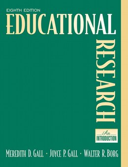Book Educational Research: An Introduction by M. D. Gall