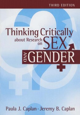 Book Thinking Critically about Research on Sex and Gender by PAULA J CAPLAN