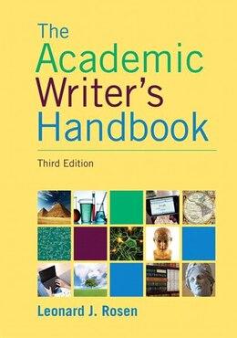 Book Academic Writer's Handbook by Leonard J. Rosen