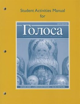 Book Student Activities Manual For Golosa: A Basic Course In Russian, Book One by Richard M. Robin