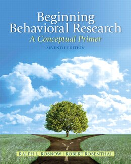 Book Beginning Behavioral Research: A Conceptual Primer by Ralph L. Rosnow