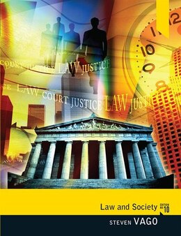 Book Law and Society by Steven Vago