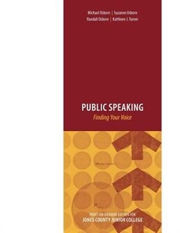 Book Public Speaking: Finding Your Voice by Michael Osborn