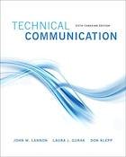 Technical Communications, Sixth Canadian Edition Plus New Mywritinglab With Pearson Etext -- Access…