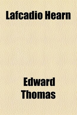 Book Lafcadio Hearn by Edward Thomas