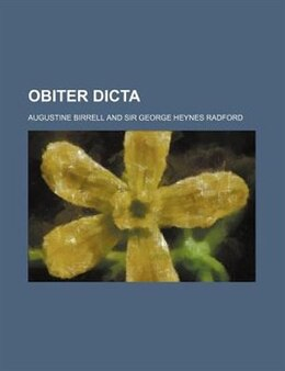 Book Obiter Dicta by Augustine Birrell