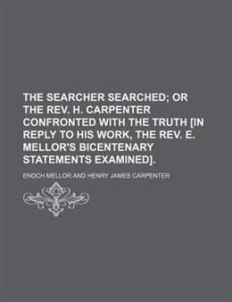 Book The searcher searched by Enoch Mellor