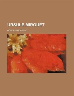 Book Ursule Mirouët by Honoré de Balzac