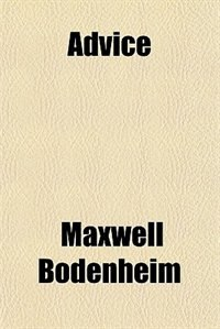 Book Advice by Maxwell Bodenheim