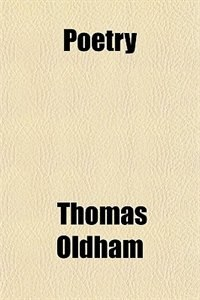 Book Poetry by Thomas Oldham