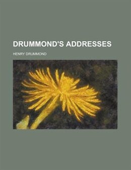 Book Drummond's Addresses by Henry Drummond