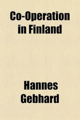 Book Co-operation in Finland by Hannes Gebhard