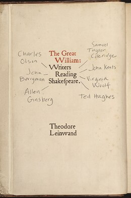 Book The Great William: Writers Reading Shakespeare by Theodore Leinwand